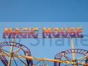 James Mellors' 'Magic Mouse' Rollercoaster sign.