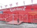 M&C Funfairs entrance trailer.