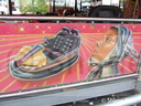 Sherman Wynn's 'Pole Position' Dodgems artwork.