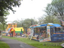 Pont's 'Hook a Duck' mobile stand, Formula and Bouncy Castle.