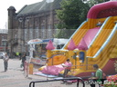 Neil Edward Pont's inflatables and 'Hook-A-Duck' stall.